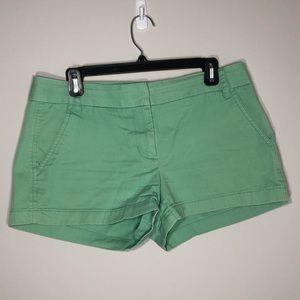 JCrew 3inch Green Chino Shorts